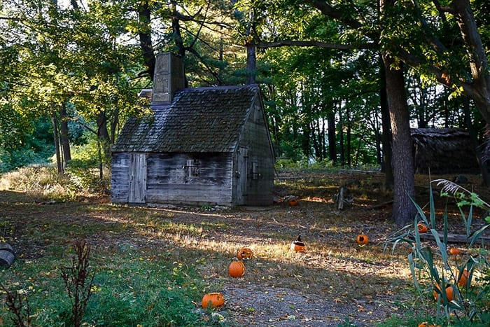 The Pioneer Village in Salem, MA is the loction of Thackery Binx's town and where the Sanderson sisters get hanged in the movie Hocus Pocus.