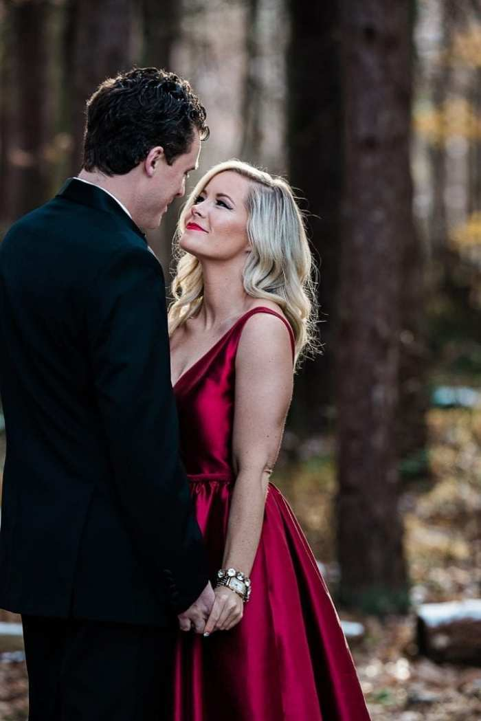 Blogger Ashley Pletcher and her hubby enjoyed photo for their Glam Christmas Card.