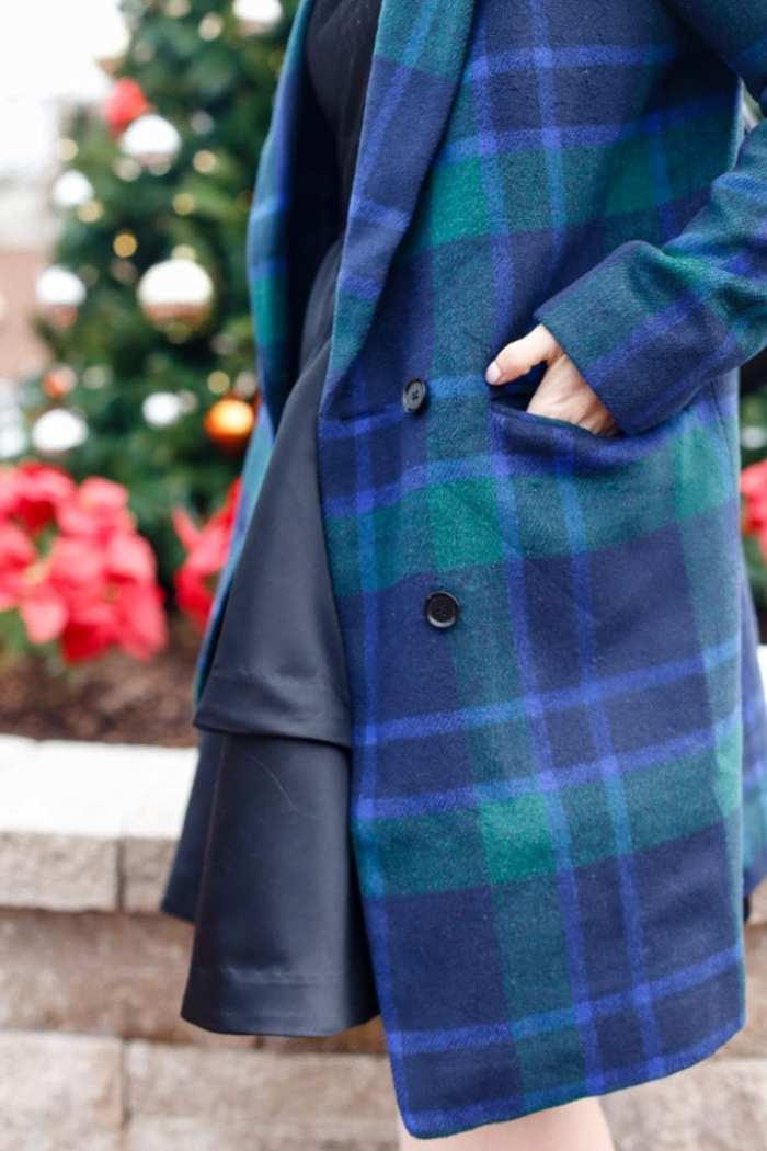 This plaid JOA coat is the perfect way to ring in the New Year!