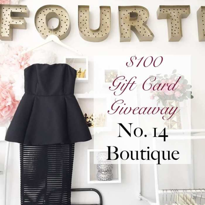 No.14 Boutique - 12 Days of Giveaways