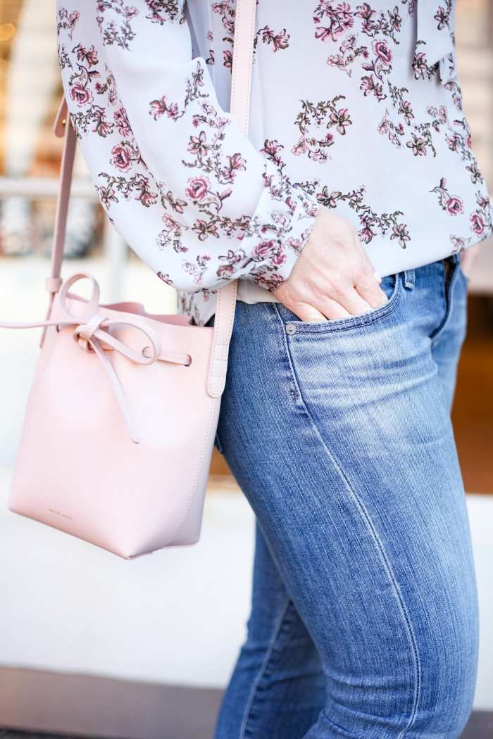 Target - Target Fashion - Spring Transition - Floral Prints- Floral Blouse- Mansur Gavriel Bag- AG Denim - Ashley Pletcher