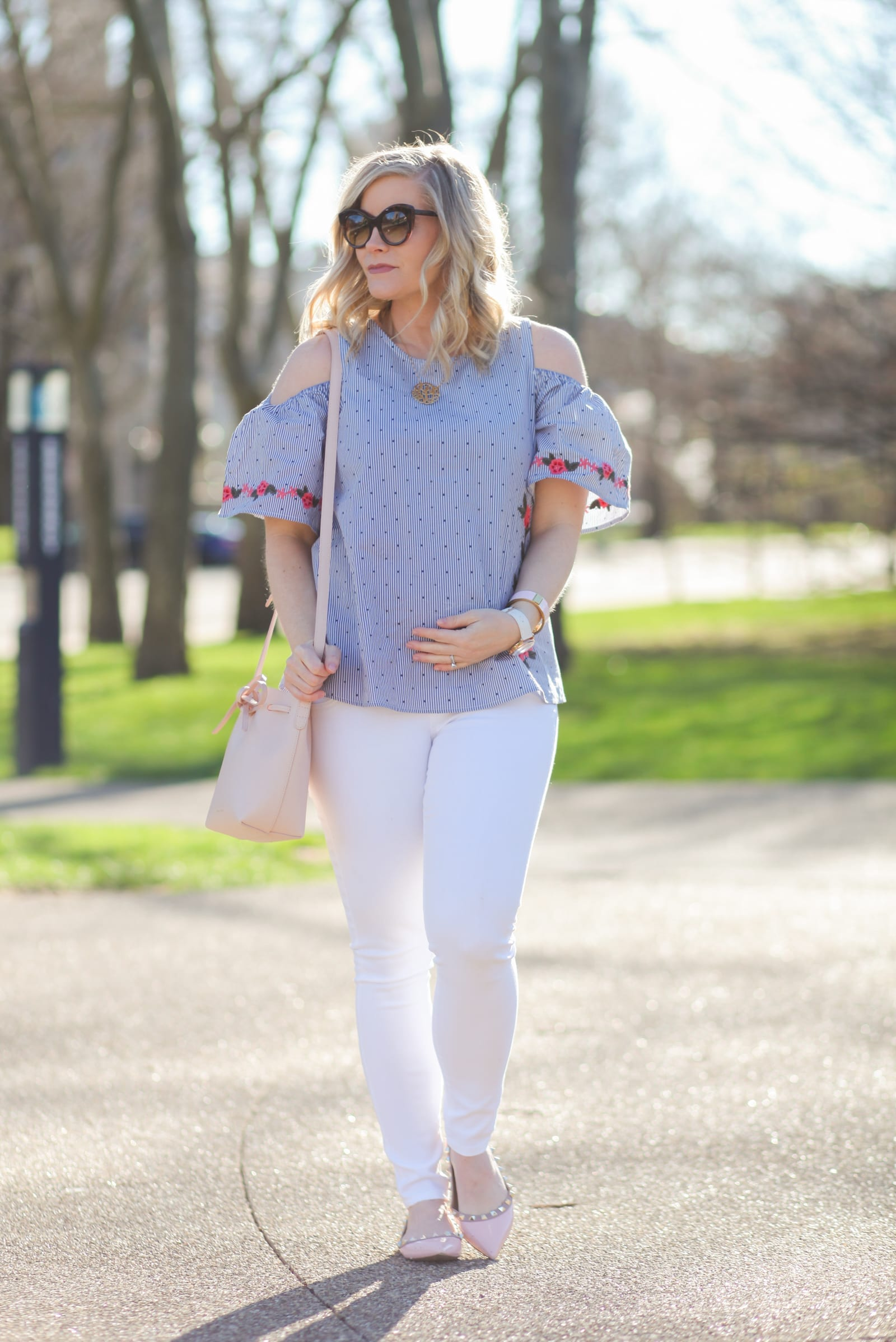 Trending this Spring and Summer: Francesca's Embroidered Blouse