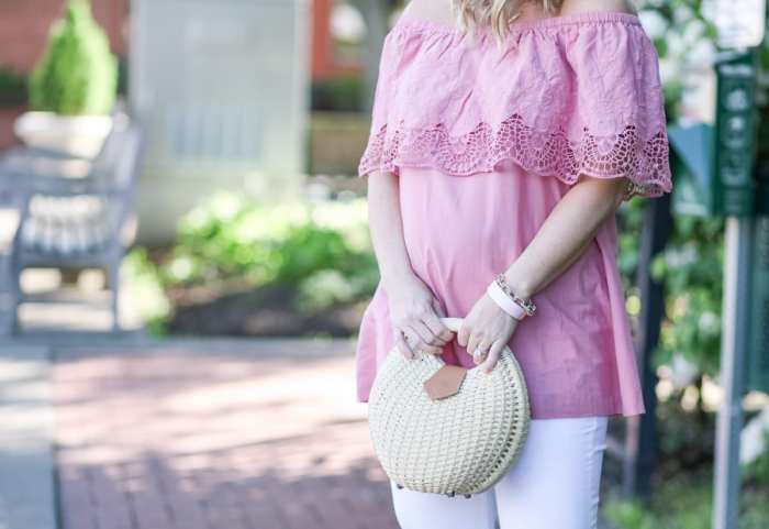 Trendy Maternity Wear - Ingrid and Isabel- Bumpdate - Maternity Fashion- Basket Bag
