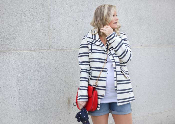 rainy day esseentials- fashion blogger- maternity fashion - ingrid and isabel- summer raincoat