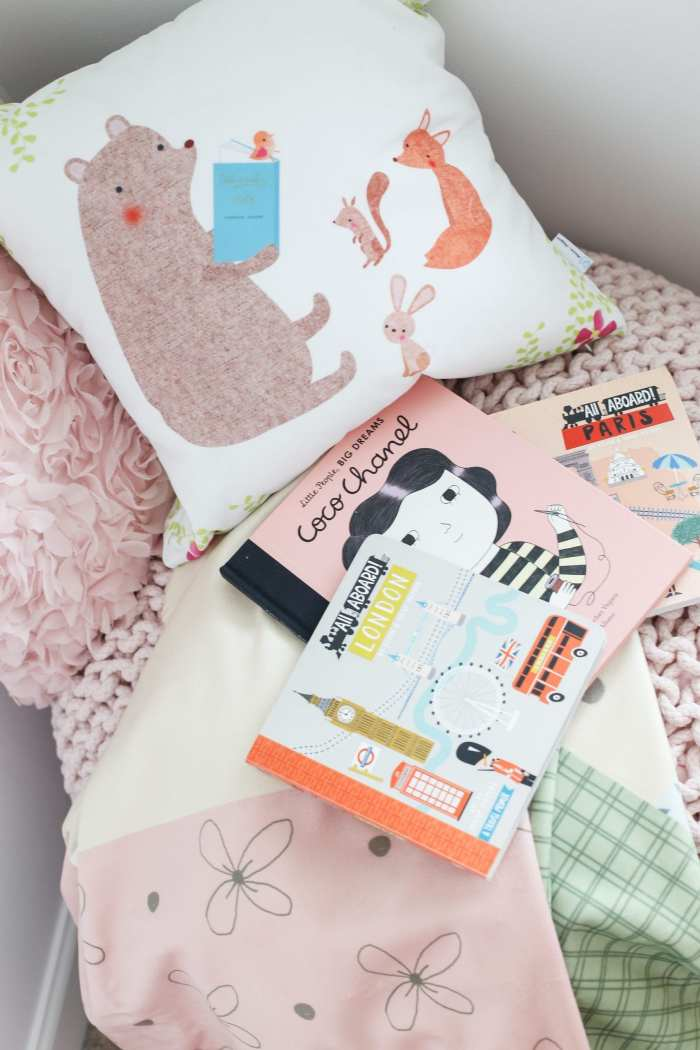 5 stress free ways to prepare for your new baby's arrival- reading nook- baby nursery
