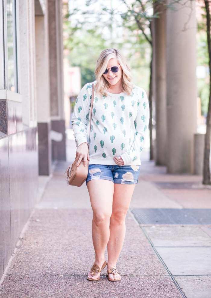 Nordstrom Cactus Print Sweatshirt - Summer Fashion