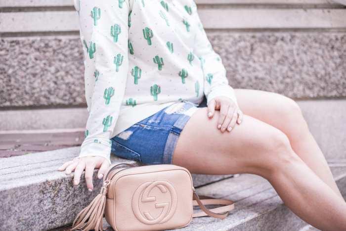 Nordstrom Cactus Print Sweatshirt - Summer Fashion- Gucci Soho Disco Bag