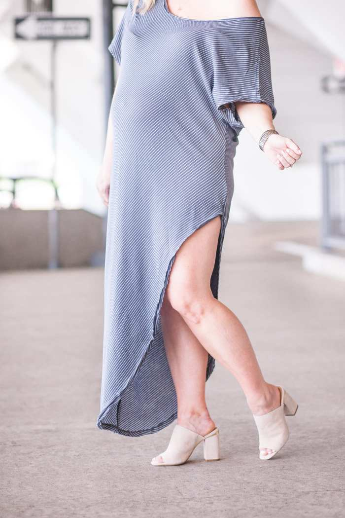 Free People Summer Maxi Dress- Maternity Fashion- Nordstrom Open Toe Mules