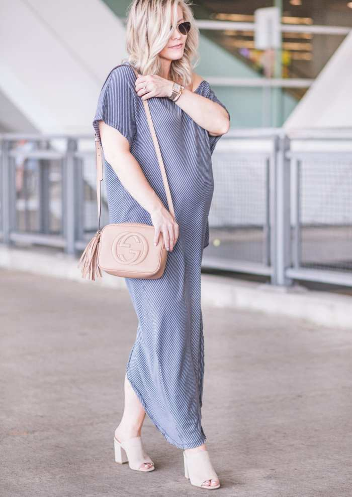 Free People Summer Maxi Dress- Maternity Fashion- Gucci Soho Disco Bag- Nordstrom