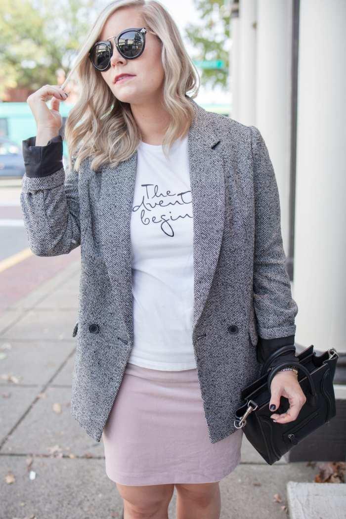 Blogger- Afternoon Espresso- Boyfriend Blazer- Express Blazer- Target Style