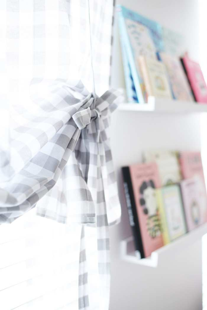 JcPenney Gingham Curtains - Nursery Decoration