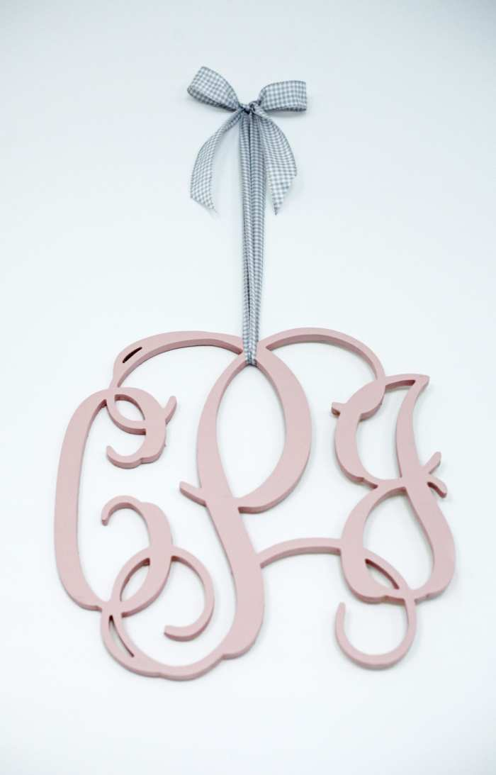 Monogram Wood Sign - Nursery Decoration