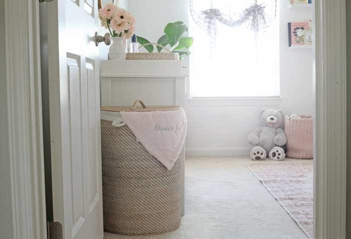 Pottery Barn Laundry Hamper- Nursery Decoration