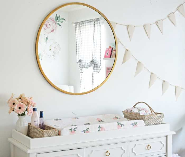World Market Mirror- Nursery Decoration