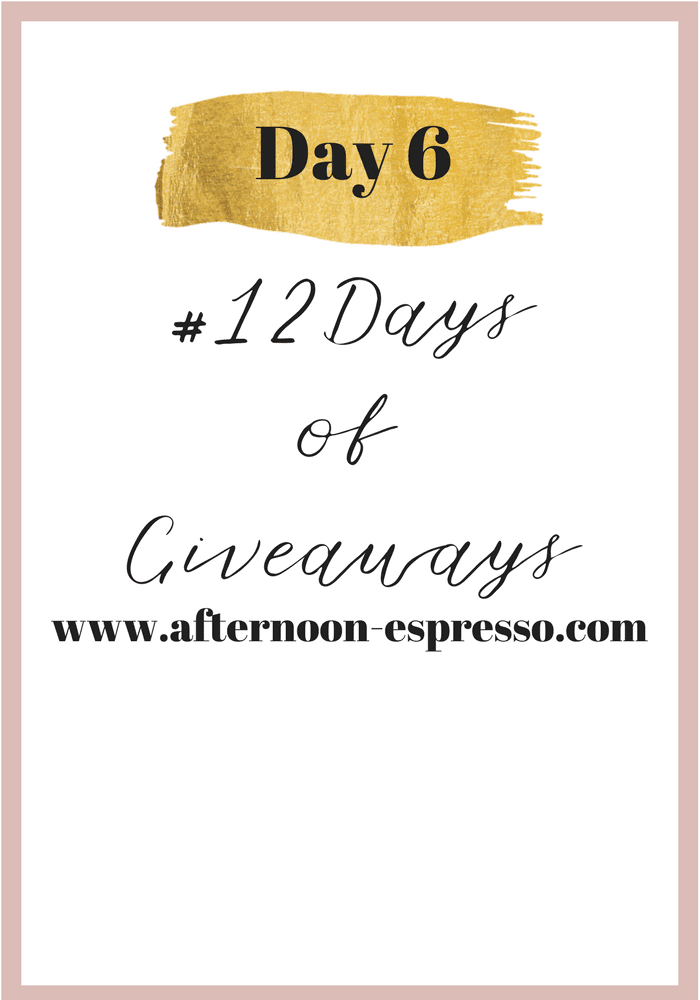 Day 6 of #12DaysofGiveaways with Starbucks Giftcards