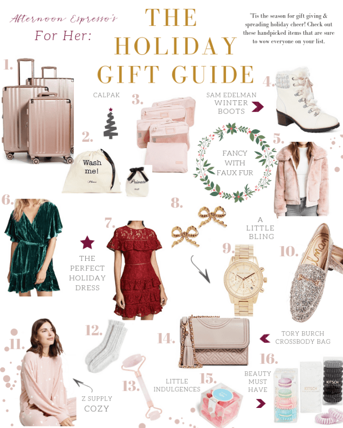 Holiday Gift Guide for Her- Shopbop -Sale - Black Friday
