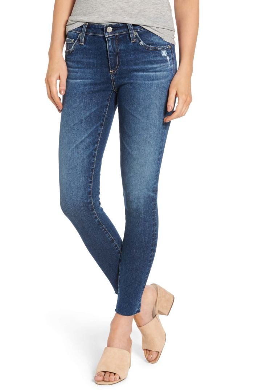 The Legging Raw Hem Ankle Jean - AG Denim -Nordstrom Anniversary Sale
