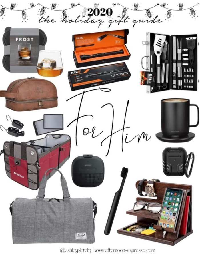 2020 Holiday Gift Guide for Him - Gift Ideas- Guide Guide