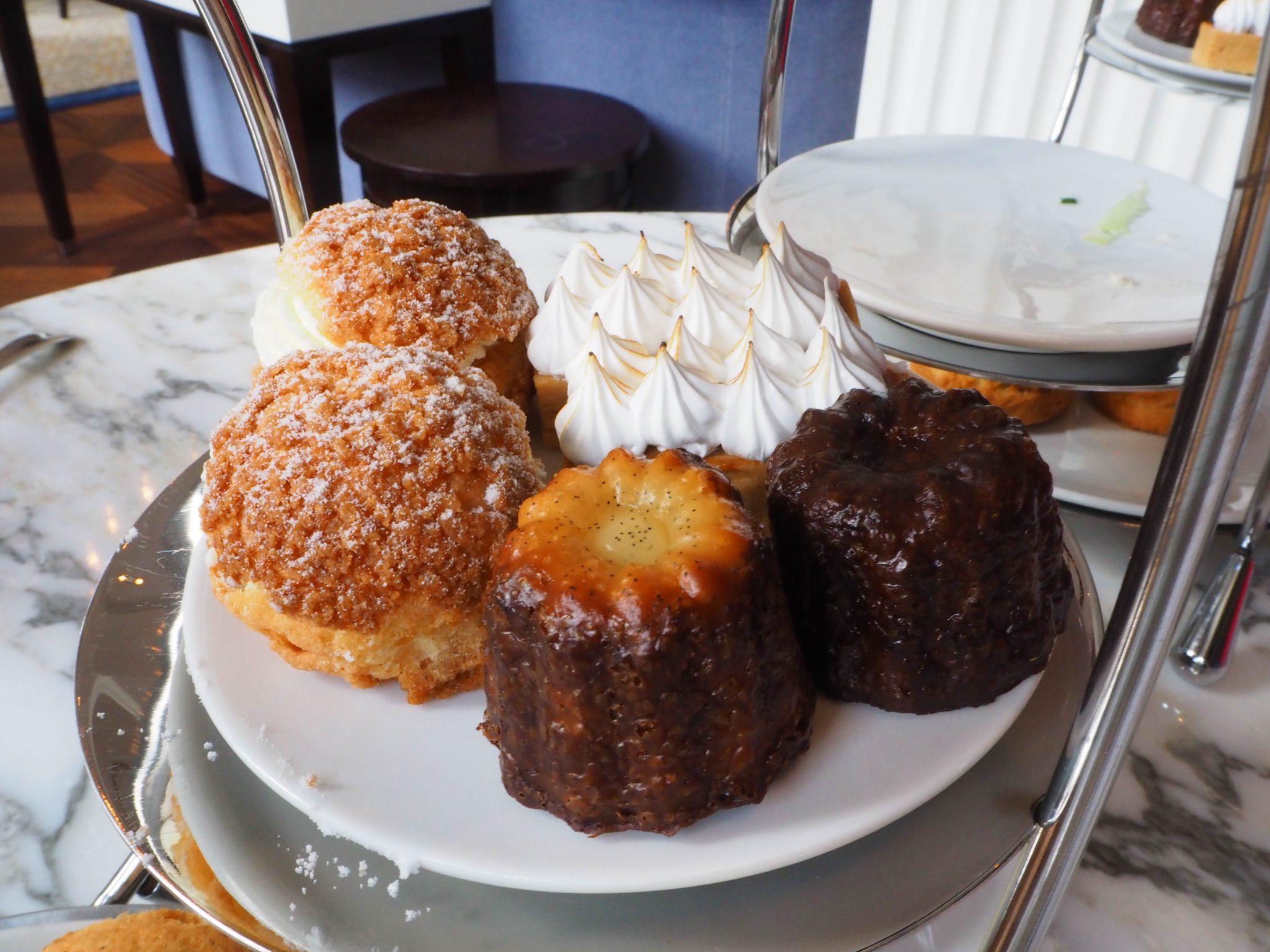 Sweet Profiteroles; Rhum-Raisin Cannelé; Dulce de Leche Cherry Pie