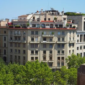 Rooftop Terrace El Palace Barcelona (view from Casa Batlló)