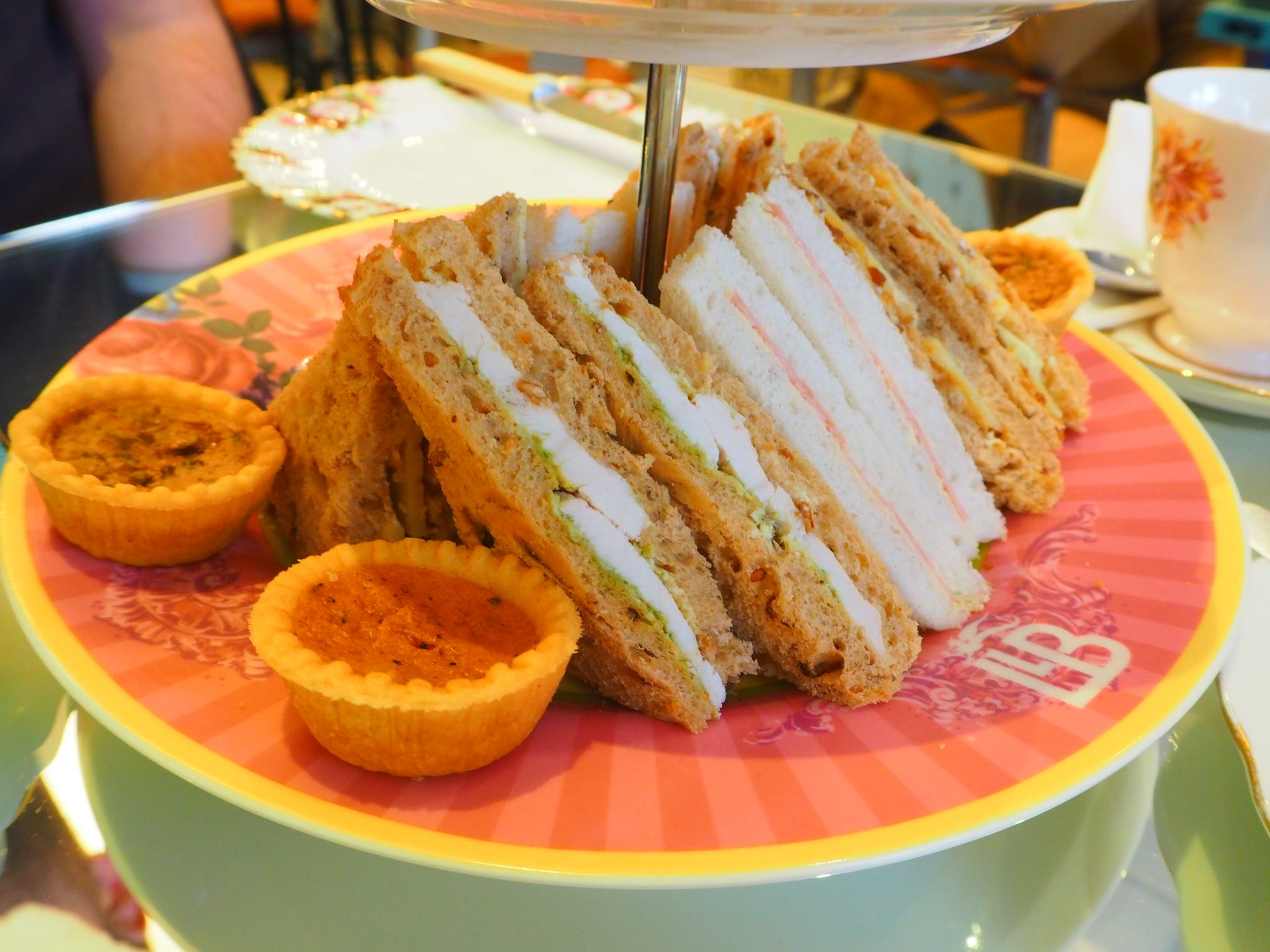 The Traditional afternoon tea savouries