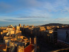 View of Barcelona from the Bar Terraza La Dolce Vita