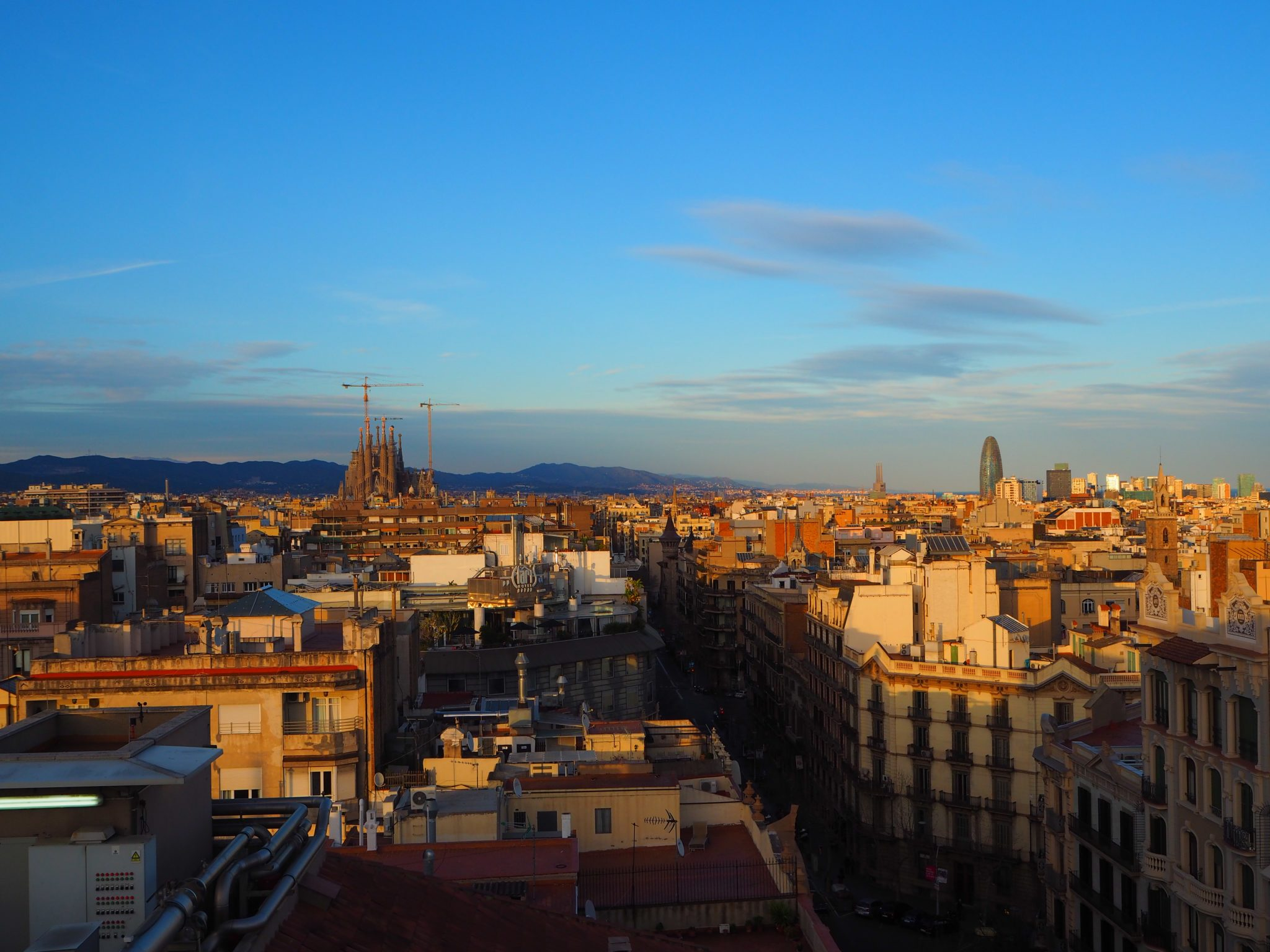 View of Barcelona from the Bar Terraza La Dolce Vita