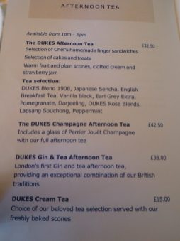 The Dukes Hotel afternoon tea