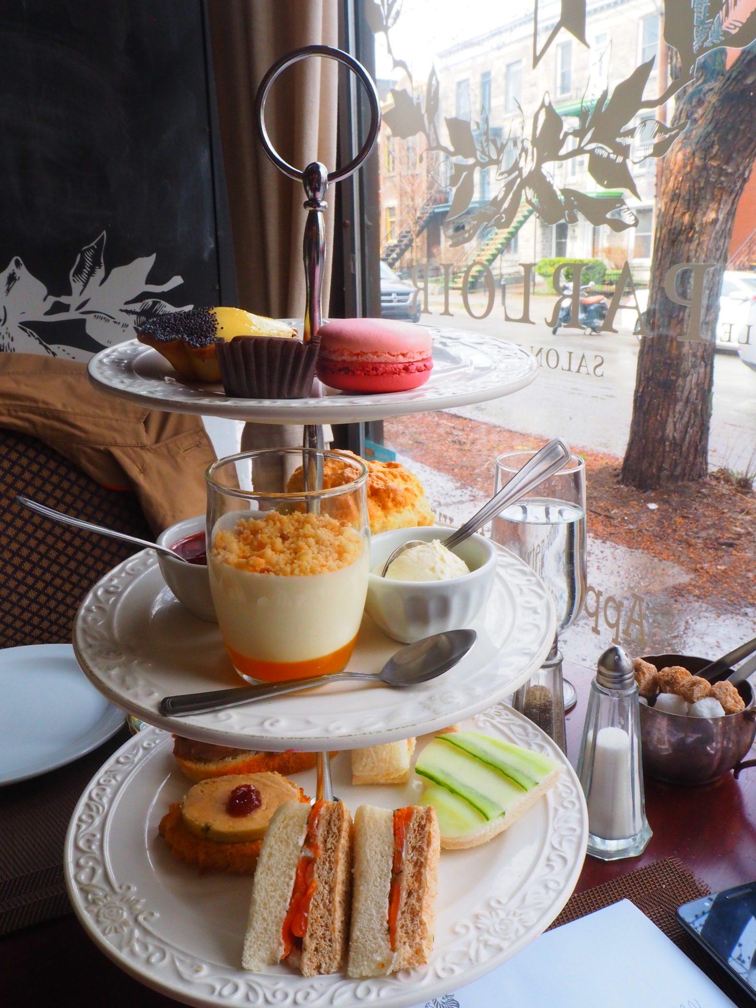 Afternoon Tea at Le Parloir tea room / Afternoon Tea au Salon de Thé Le Parloir