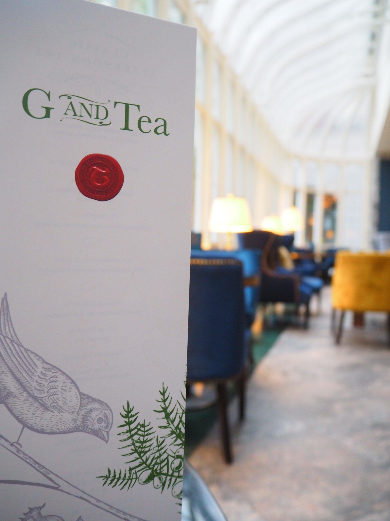 Gin Afternoon Tea / G&Tea menu