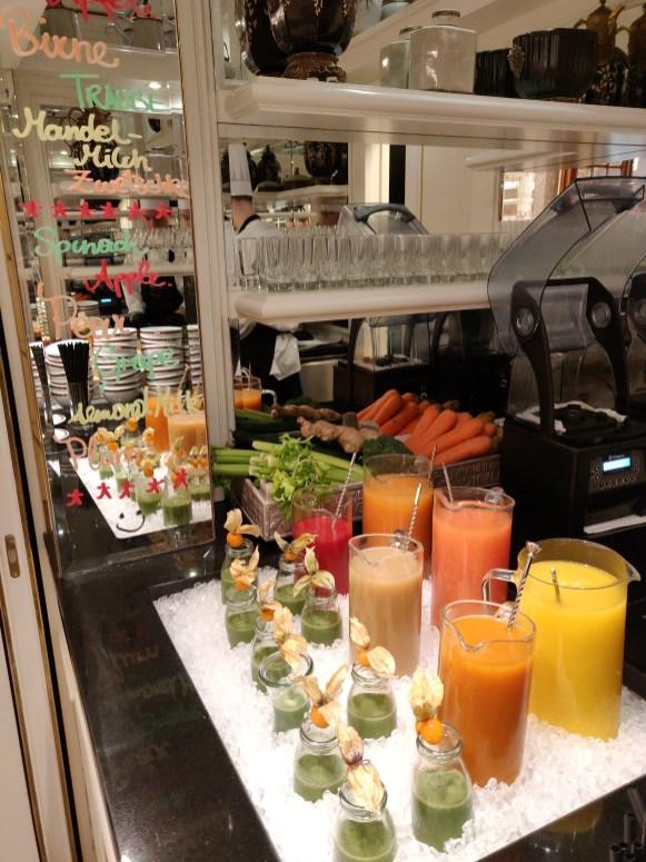 The Hotel Sacher Vienna breakfast Juice bar