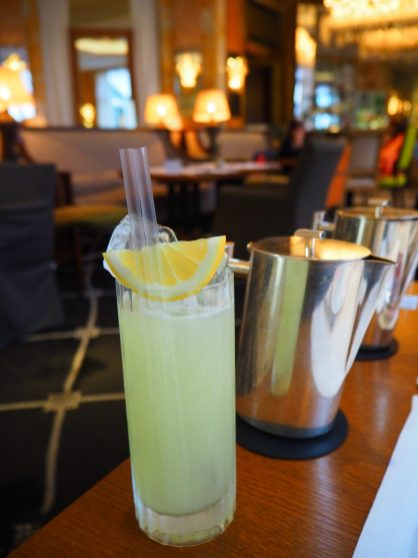 Lemon Sherbet - Sherbet Citron maison, Perrier, Jus de Citron frais / Lemon homemade Sherbet, Soda water, Fresh Lemon juice