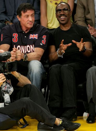 Sylvester Stallone and Eddie Murphy