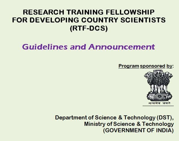 Research Training Fellowship for Developing Country Scientists (RTF