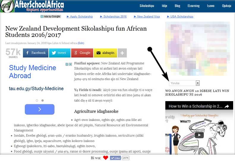Read AfterSchoolAfrica in French, Spanish, Yoruba, Igbo