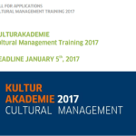 Goethe-Institut KULTURAKADEMIE Cultural Management Training 2017 for MENA Countries. Fully-funded to Germany