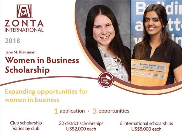Jane M Klausman Women In Business Scholarships 2019 2020 For International Students After