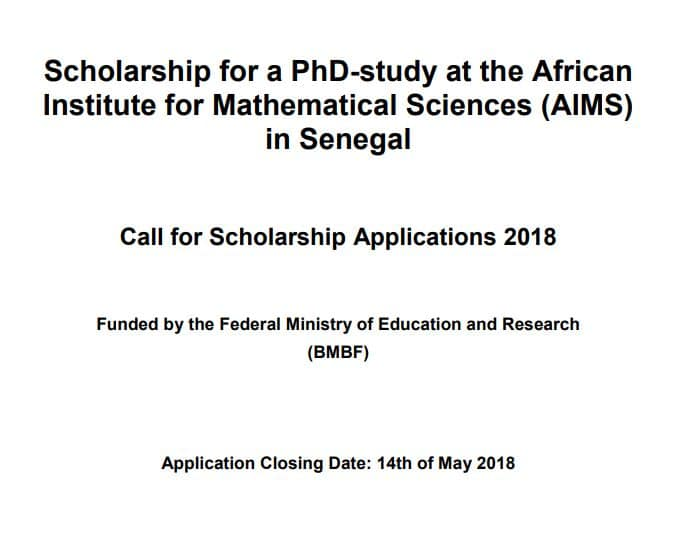 Daad african institute for mathematical sciences aims phd daad african institute for mathematical sciences aims phd scholarships for african students 2018 senegal after school africa spiritdancerdesigns Images