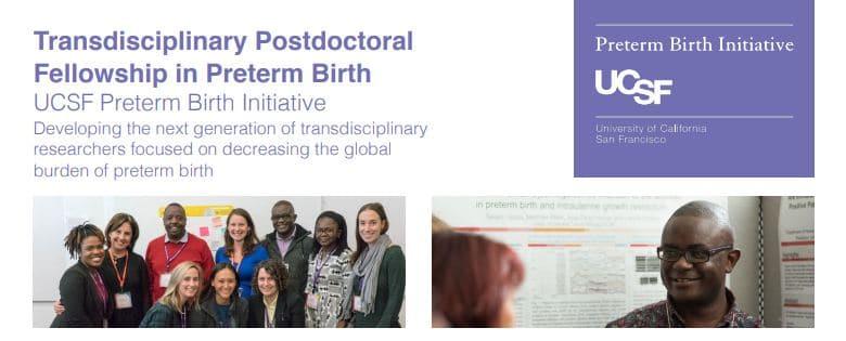 UCSF Preterm Birth Postdoctoral Fellowship Programme for