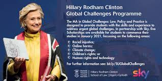 Hillary Rodham Clinton Global Challenges Programme 2021 for International Students