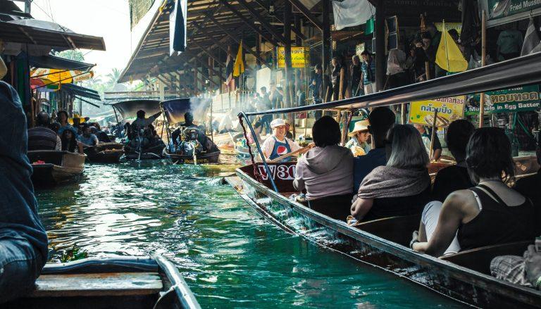 Bangkok mercato galleggiante