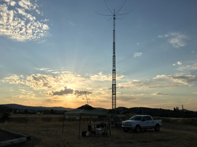 More sunset behind our 20 meter station.