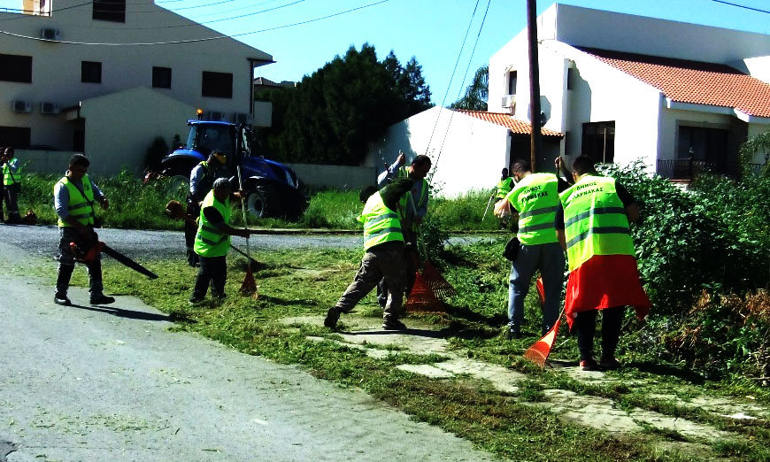 εκστρατεία καθαριότητας στη Λάρνακα