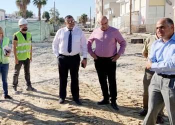 Δ. Λάρνακας: Επιτόπου επίσκεψη στα υπό κατασκευή αντιπλημμυρικά έργα