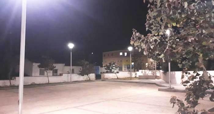 Φωταγωγείται με λάμπες LED η κεντρική πλατεία στο Δήμο Γερίου