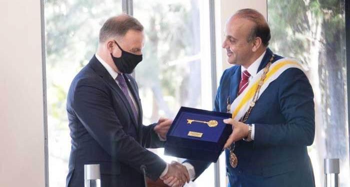 Με το Χρυσό Κλειδί της Πάφου τιμήθηκε ο Πρόεδρος της Πολωνίας