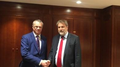Νότη Μαριά με τον Αντιπρόεδρο της Gazprom
