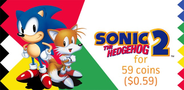 Sonic 2 for 59 coins ($0.59)