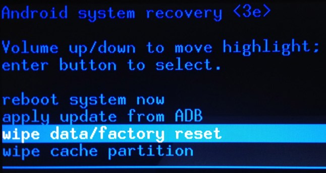 How to unbrick by entering Recovery Mode and Factory Reset