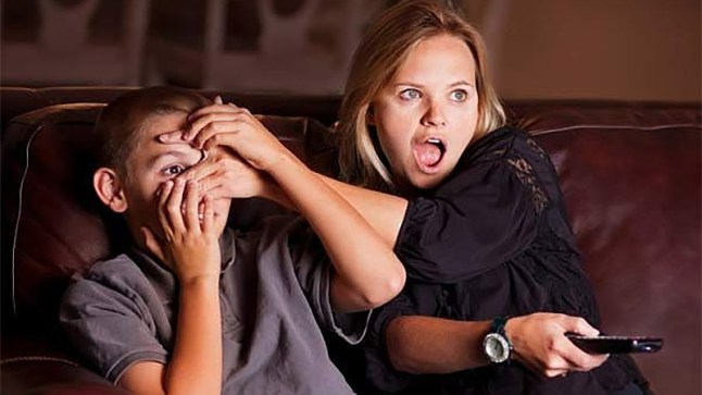 shocked-mother-kid-adult-tv